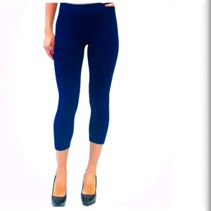 ELIETIAN High Waisted CROPPED Leggings Dark Blue